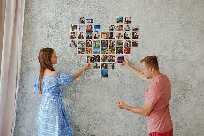 papierowe zdjęcia